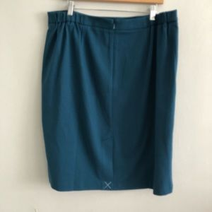 Talbots Skirts - NEW Talbots Teal Button Front Skirt